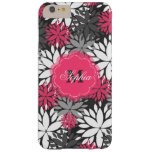 Estampado de flores de moda femenino hermoso del funda de iPhone 6 plus barely there