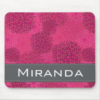 Estampado de flores de moda moderno personalizado mouse pads