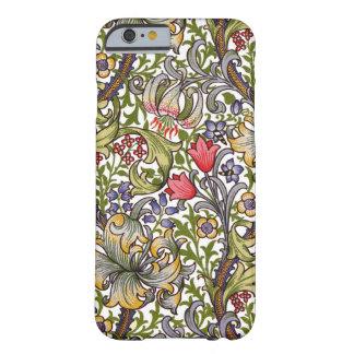 Estampado de flores de oro William Morris del Funda De iPhone 6 Barely There
