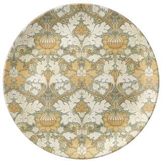 Estampado de flores de William Morris - placa de Plato De Cerámica