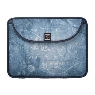 Estampado de flores del azul del vintage fundas para macbook pro