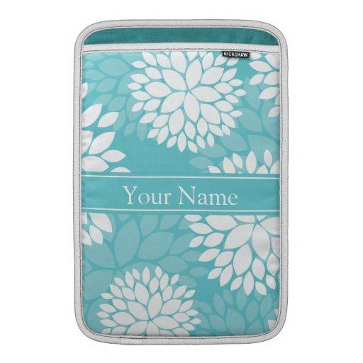 Estampado de flores del blanco del trullo fundas para macbook air