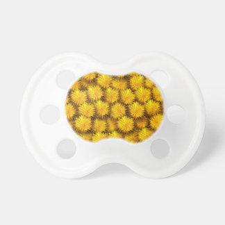 Estampado de flores del diente de león chupete de bebe
