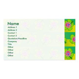 Estampado de flores del hibisco tarjetas de visita