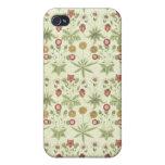 Estampado de flores del país del vintage iPhone 4/4S funda