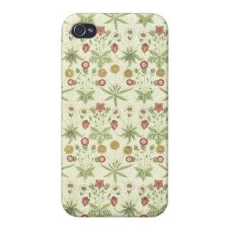 Estampado de flores del país del vintage iPhone 4 fundas