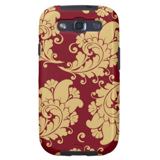 Estampado de flores del papel pintado de Paisley d Samsung Galaxy S3 Carcasas