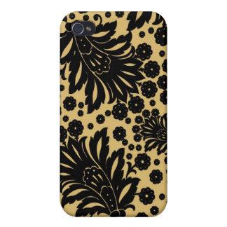 Estampado de flores del papel pintado de Paisley iPhone 4/4S Funda