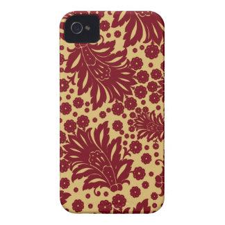 Estampado de flores del papel pintado de Paisley iPhone 4 Case-Mate Carcasas