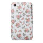 Estampado de flores del rosa de rosas de la cabaña Case-Mate iPhone 3 coberturas