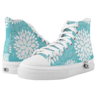 Estampado de flores del trullo zapatillas
