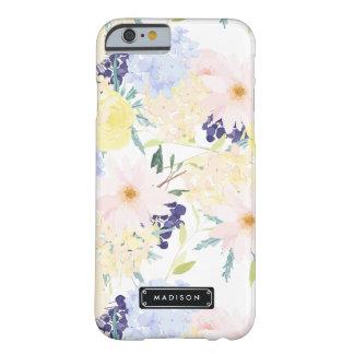 Estampado de flores del verano personalizado funda de iPhone 6 barely there