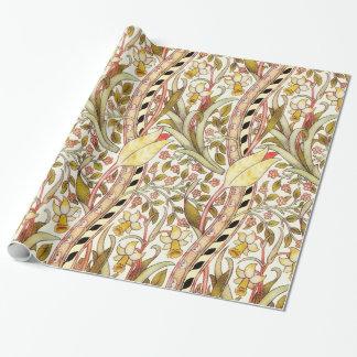 Estampado de flores del vintage del narciso de papel de regalo