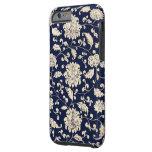 Estampado de flores del vintage funda de iPhone 6 tough