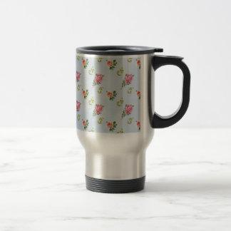 Estampado de flores del vintage - nubes azules tazas de café