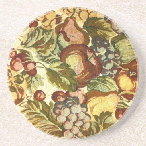 Estampado de flores del vintage posavasos personalizados