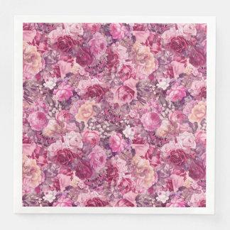 Estampado de flores del vintage servilletas de papel