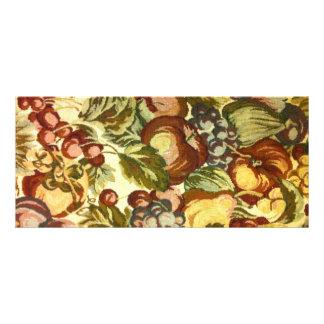 Estampado de flores del vintage diseño de tarjeta publicitaria