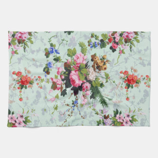 Estampado de flores del vintage toallas de cocina