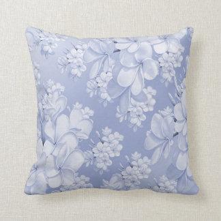 Estampado de flores delicado, azul (i) almohada