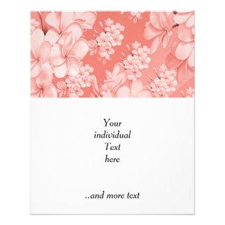 """Estampado de flores delicado, (i) rosado folleto 4.5"""" x 5.6"""""""