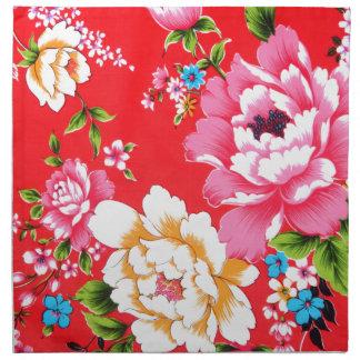 Estampado de flores dinámico servilletas imprimidas