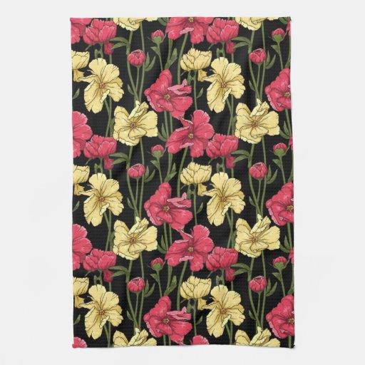 Estampado de flores elegante 2 toallas de mano