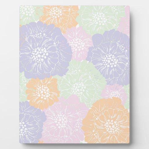 Estampado de flores elegante de la primavera del v placas de madera