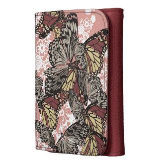 Estampado de flores elegante de las mariposas del