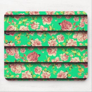Estampado de flores elegante del rosa del trullo tapete de ratones
