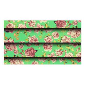 Estampado de flores elegante del rosa del trullo tarjetas de visita