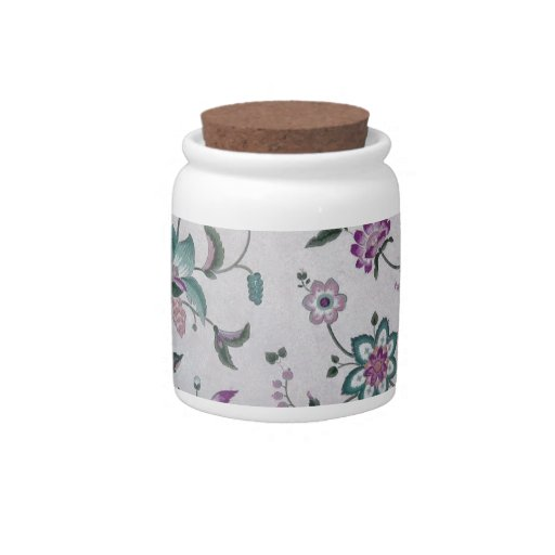 Estampado de flores elegante del vintage jarras para caramelos