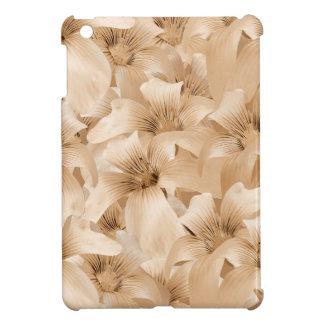 Estampado de flores elegante en tonos ocres