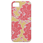 Estampado de flores elegante femenino de Paisley d iPhone 5 Fundas