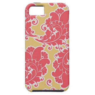 Estampado de flores elegante femenino de Paisley d iPhone 5 Cárcasa