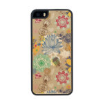 Estampado de flores en el estilo retro 3 funda de arce carved® para iPhone 5