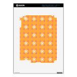 Estampado de flores en el naranja iPad 3 skin