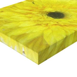 Estampado de flores envuelto amarillo de la lona lona envuelta para galerías