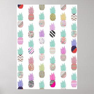 Estampado de flores exótico femenino del Azteca de Posters