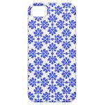 Estampado de flores femenino azul y blanco del vin iPhone 5 protectores
