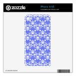 Estampado de flores femenino azul y blanco del vin iPhone 4S skins