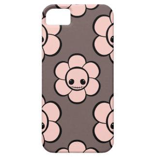 Estampado de flores femenino de la flor del cráneo iPhone 5 Case-Mate carcasa