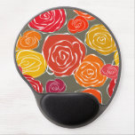 Estampado de flores femenino de los rosas del vint alfombrilla de raton con gel