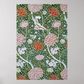 Estampado de flores fino de William Morris del Póster