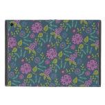 Estampado de flores floral púrpura de la MOD del v iPad Mini Fundas