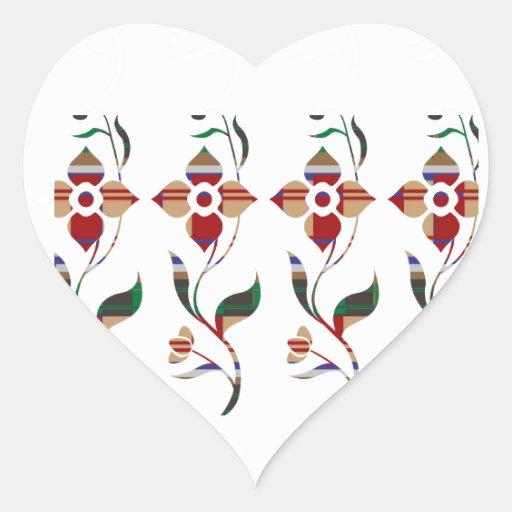 Estampado de flores: Flores de la enredadera Pegatina En Forma De Corazón