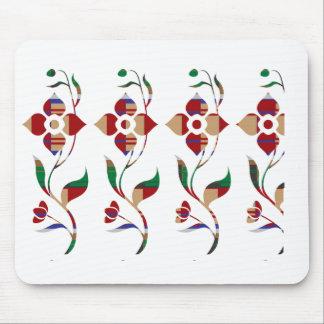 Estampado de flores: Flores de la enredadera Tapete De Ratón