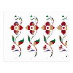 Estampado de flores: Flores de la enredadera Tarjetas Postales