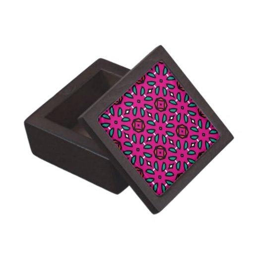 Estampado de flores geométrico de las rosas fuerte cajas de joyas de calidad