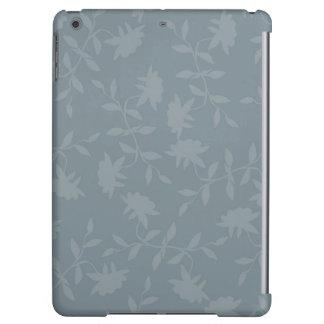 Estampado de flores gris